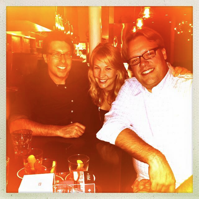 Sarah with Dave Balter and Mike Kowalchik, Smarterer co-founders after the closing dinner.