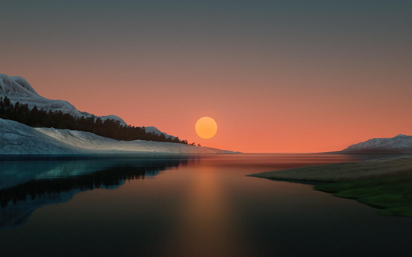 Image may contain: water, sky and lake