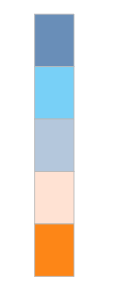 example color palette with blues, pink, and orange