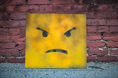yellow angry face