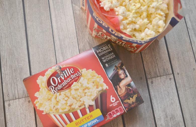 Wonder Woman Movie, Popcorn recipes, Wonder Woman Popcorn balls, red, blue and yellow popcorn balls, movie night recipes, Ice Cream Cone Popcorn Balls, Ice Cream Cone Popcorn Balls recipe, marshmallow popcorn ball recipes