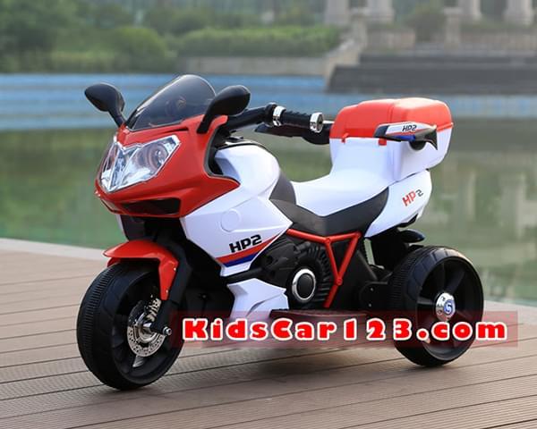 Xe mô tô điện cho bé - HP2 màu đỏ 1