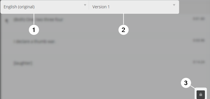 Detail screenshot of reference language panel in Amara Editor