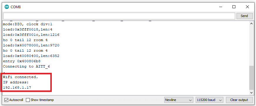 Địa chỉ IP Node Wifi32