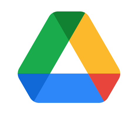 Google Drive Logo with green, yellow, blue, and red forming a triangle