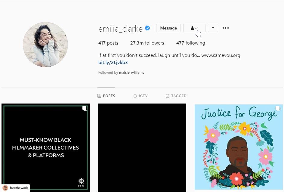 Follow Celebrities on Instagram