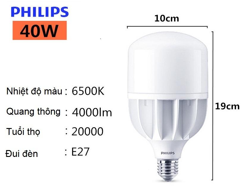 Bóng đèn Led bulb Hi-lumen Philips công suất cao giá siêu tiết kiệm