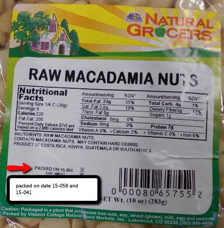 Natural Grocers Raw Macadamia Nuts, Net Wt. 10 oz. (283 g)