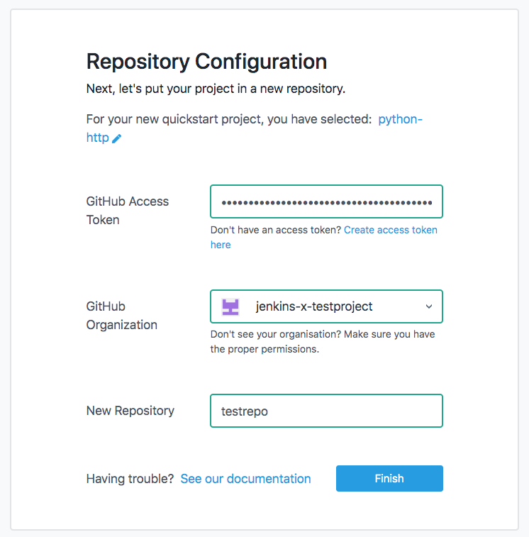 Repository Configuration
