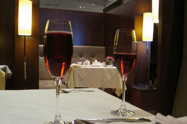 Champagne in the Concorde Room at Heathrow