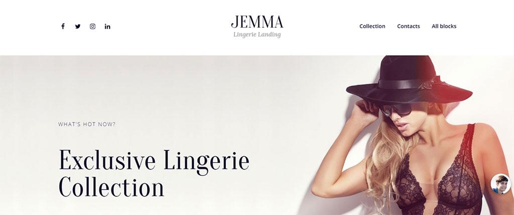 modelo de site responsivo para moda feminina