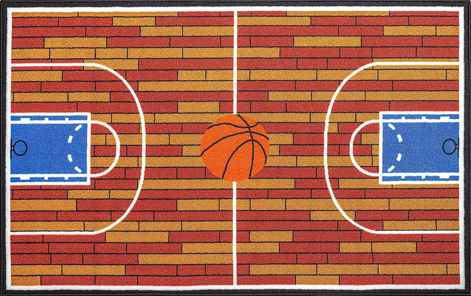 basketball Ground Kids Area Rug