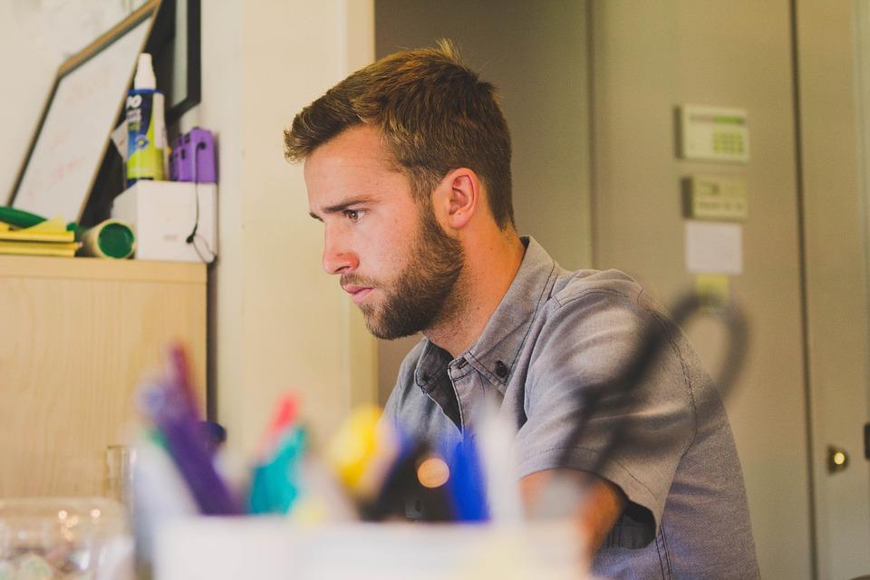 男, 仕事, デスク, ビジネス, 人, 作業, 男性, Professional, オフィス, 濃度
