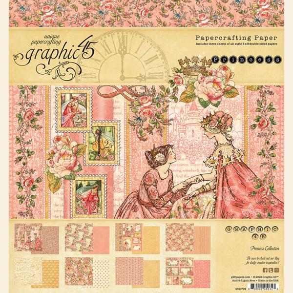 Princess 8x8 Paper Pad