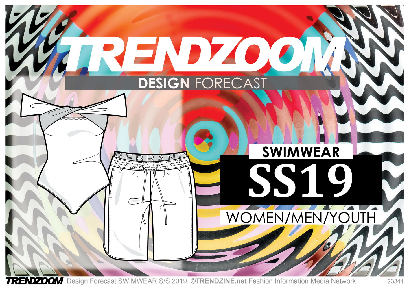 Trendzoom Design Forecast Women Men Youth Swimwear S S 2019