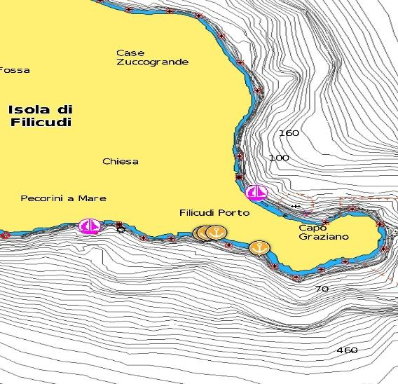 Nautical map Filicudi