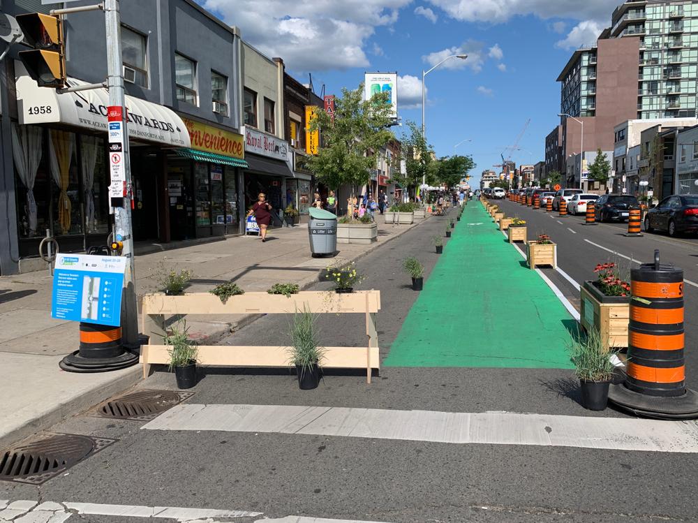 Mobilidade ativa: ciclovia pintada para incentivar ciclismo