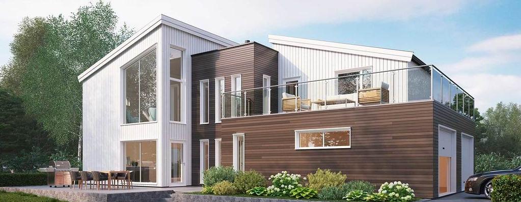 Funkishus med smarte løsninger og et rent design, arkitektdesignet funkishus, smart hus, arkitekt Haugesund