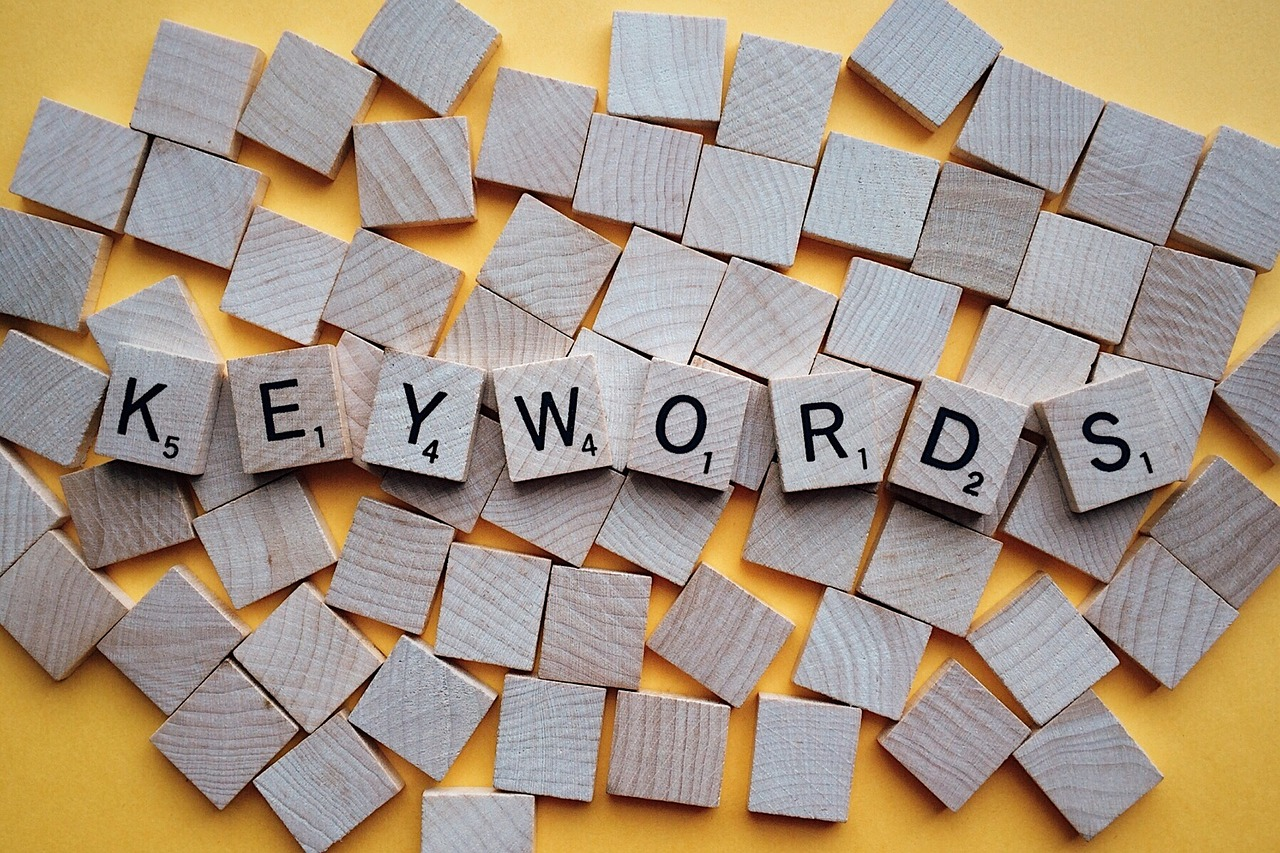scrabble tiles keywords to get on page one of google