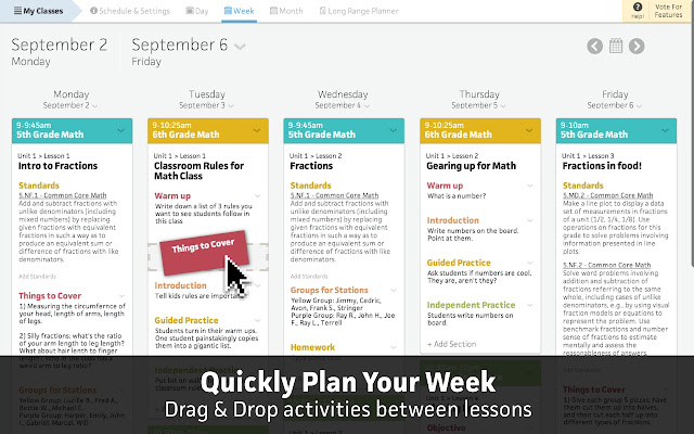 Collaborative Teaching Lesson Plans ~ Common curriculum lesson planner chrome web store