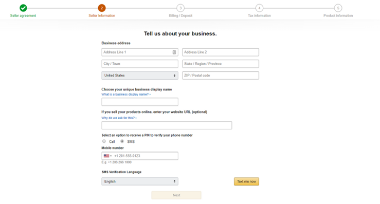 Amazon business information