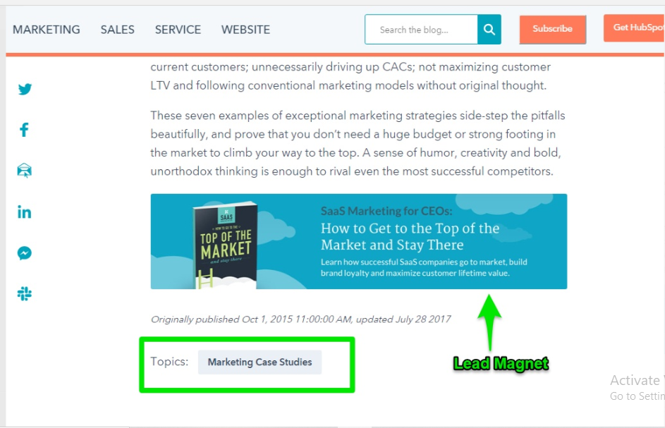 saas marketing examples