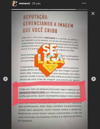 Instagram Stories de uma citação de um livro, mostrando a página e o destaque com um sticker, Se Liga.