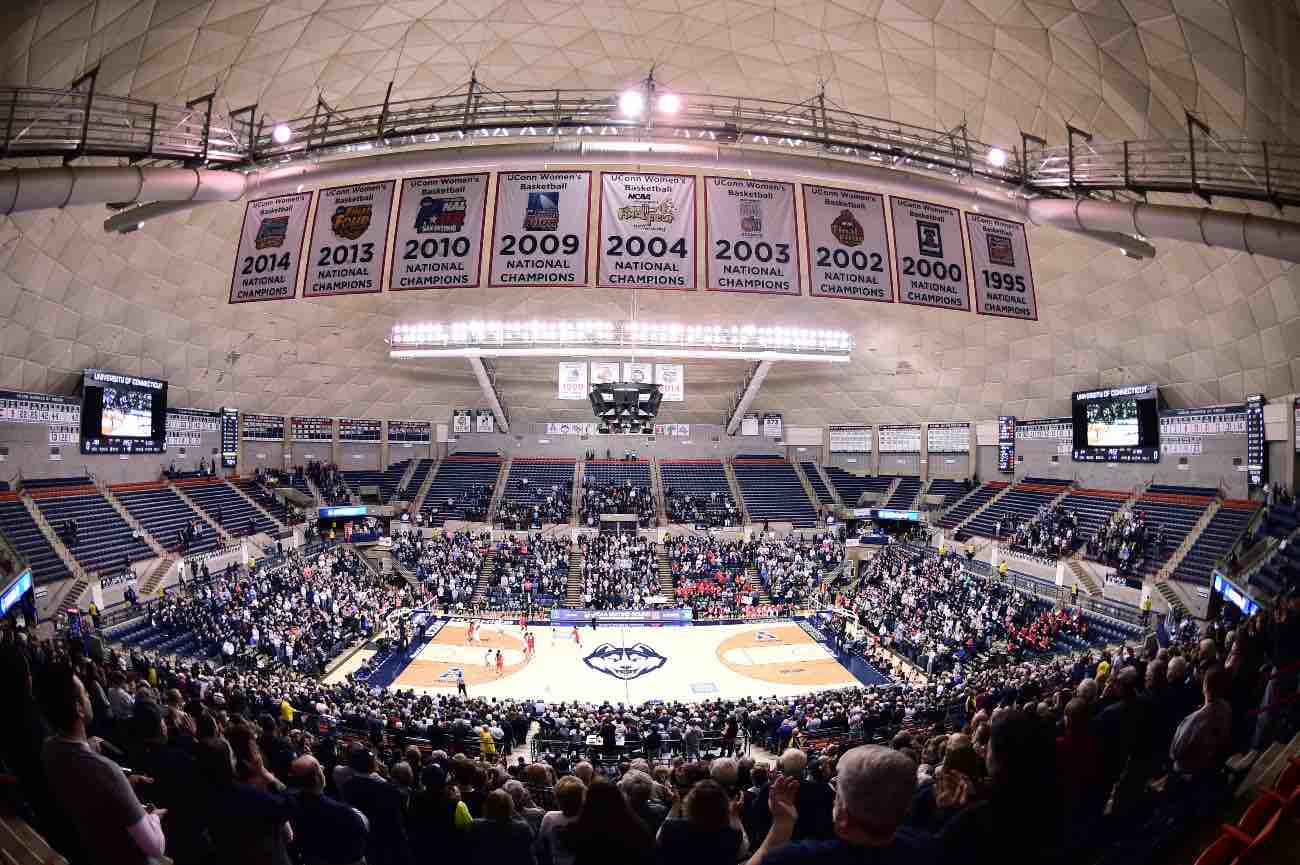 STORRS, CT - MARCH 23: A general view of Harry A. Gampel Pavilion on March 23, 2015 Storrs, Connecticut. (Photo by Benjamin Solomon/Getty Images)