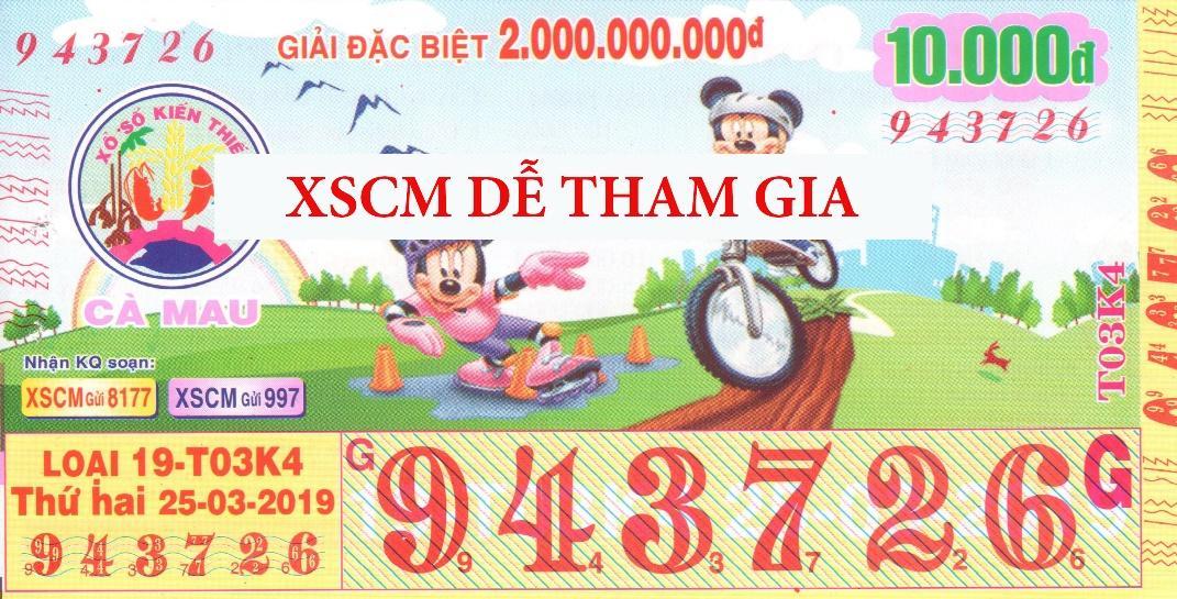 XSCM dễ tham gia với 10k/vé