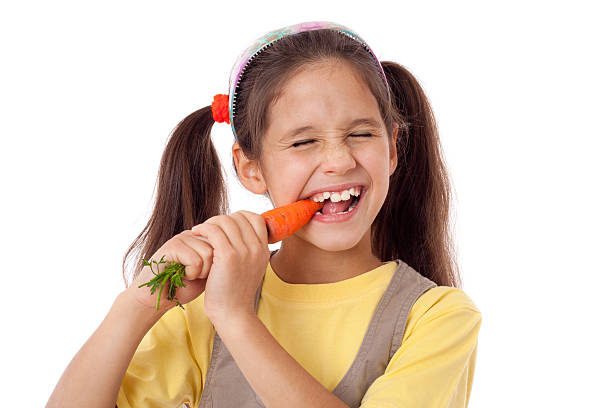 strong teeth of a girl with a calcium rich diet plan