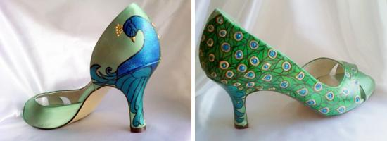 C:\Users\Style\Downloads\Blog\Shoe style for Brides\painted-peacock-bridal-shoes.jpg