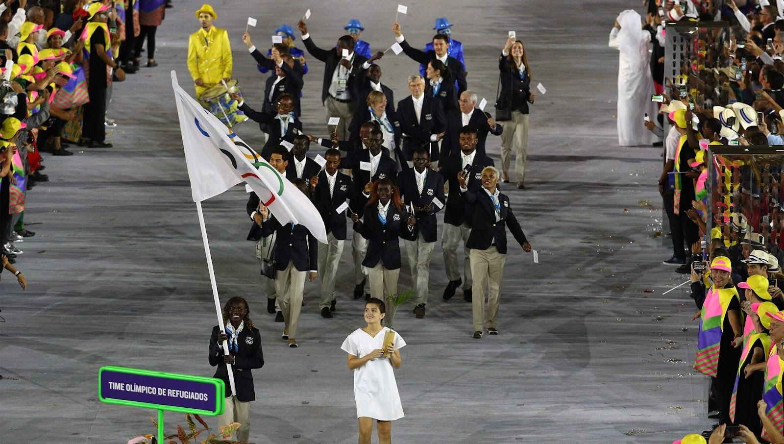 Time Olímpico de Refugiados fez sua estreia na Rio 2016 (Imagem: Wikimedia Commons)