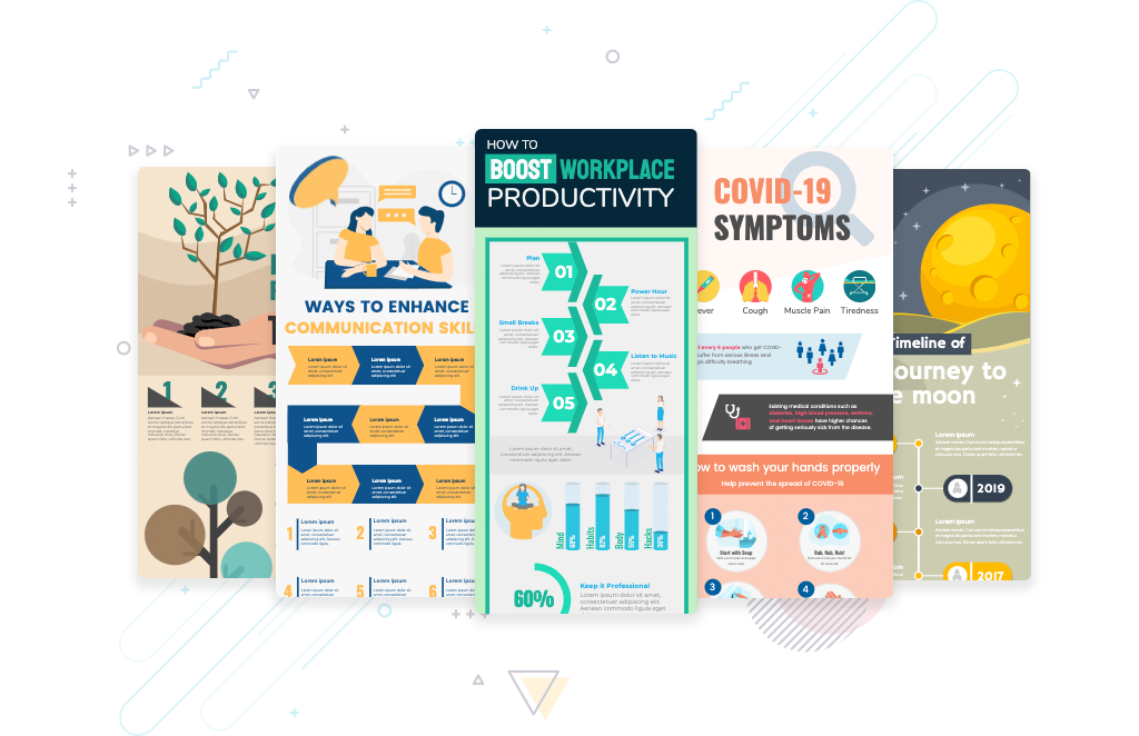 infoart process infographic examples
