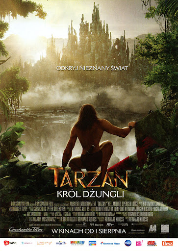 Przód ulotki filmu 'Tarzan. Król Dżungli'