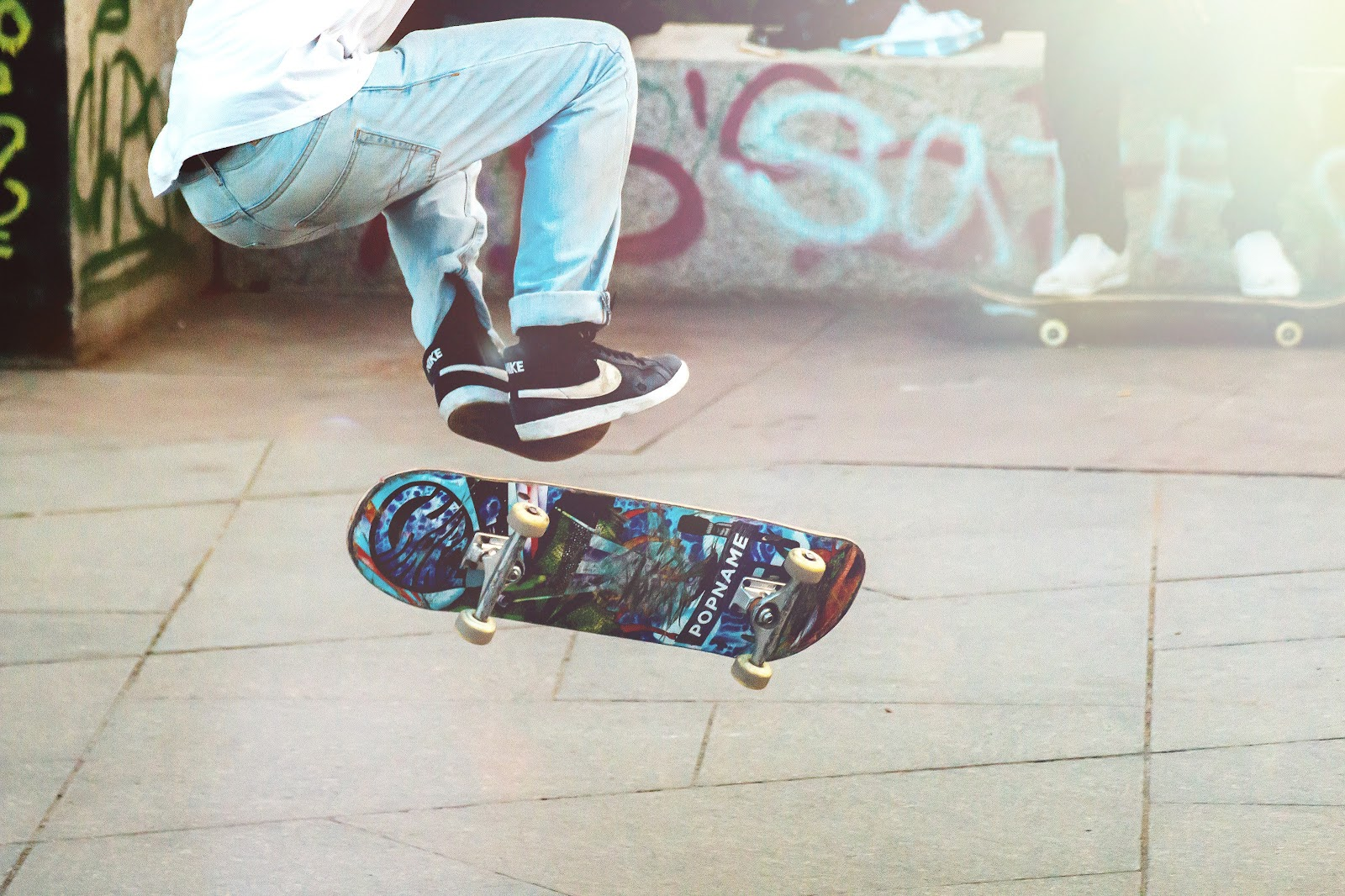 Skate boarding jump