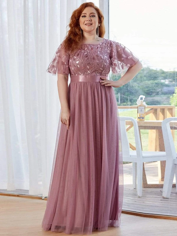 Embroidery-Evening-Dresses-Short-Sleeve