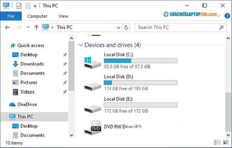 Truy cập lại This PC để kiểm tra