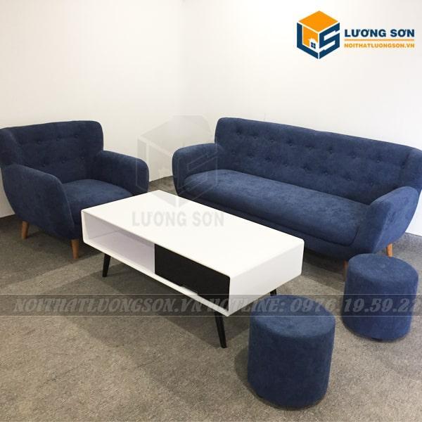 Bộ Sofa văng nỉ SFV05 màu xanh lục chống cụi bẩn
