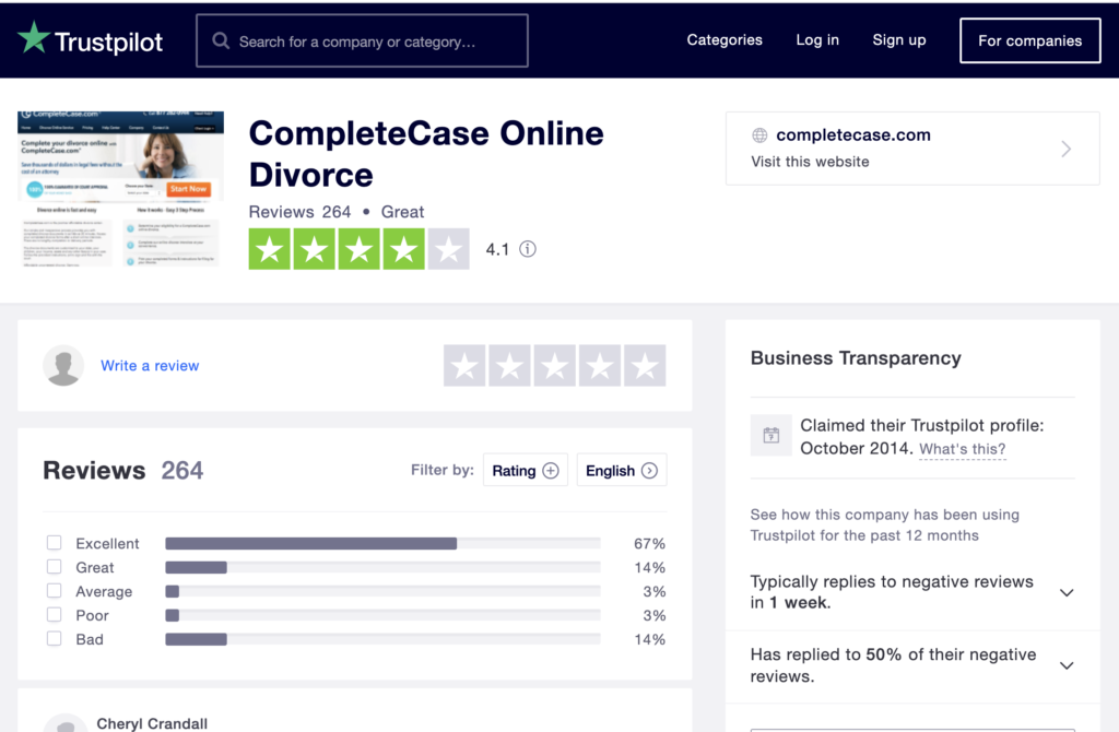 Complete Case Trustpilot reviews