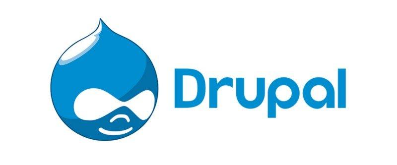 The logo of Drupal.