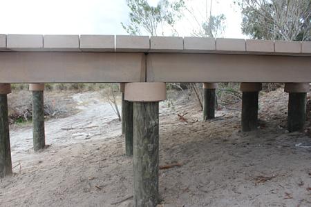 timber pile deep foundation in gulf coast region