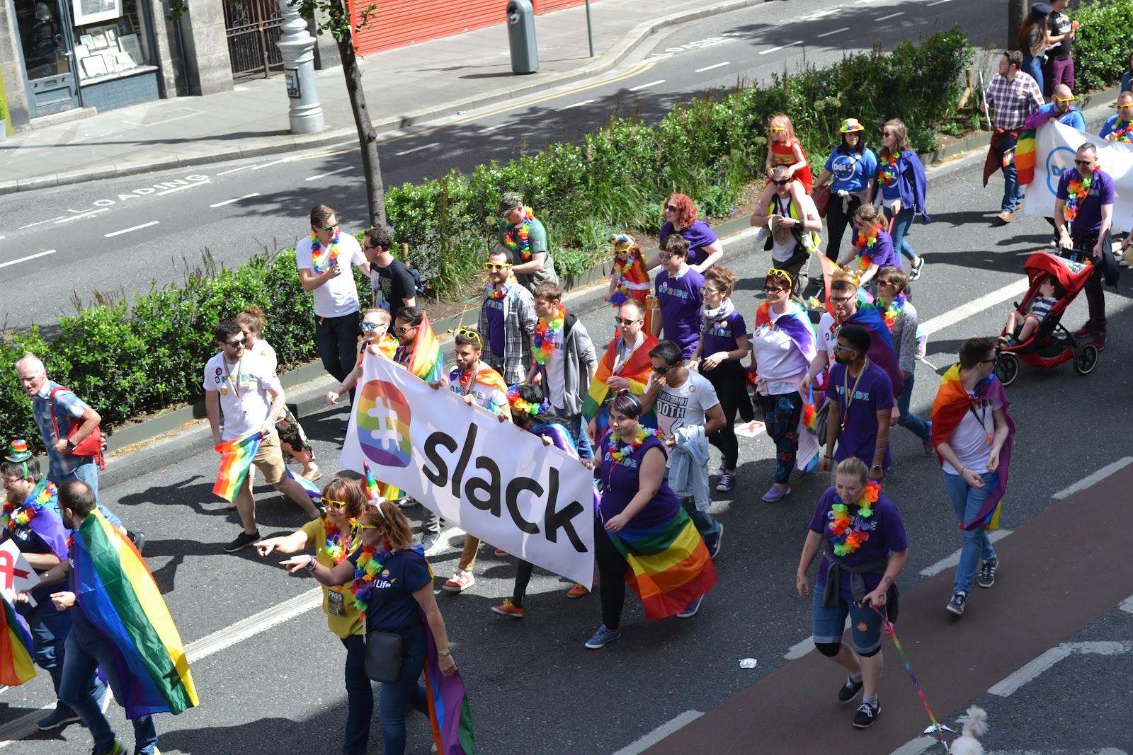 Slack in Dublin Pride 2017
