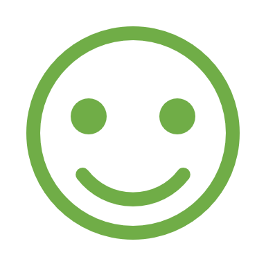 Smiling face outline