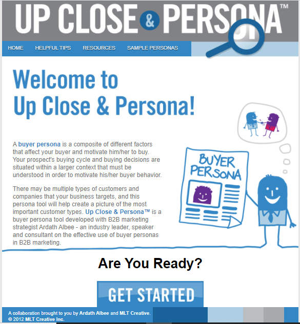 upclose&persona webpage