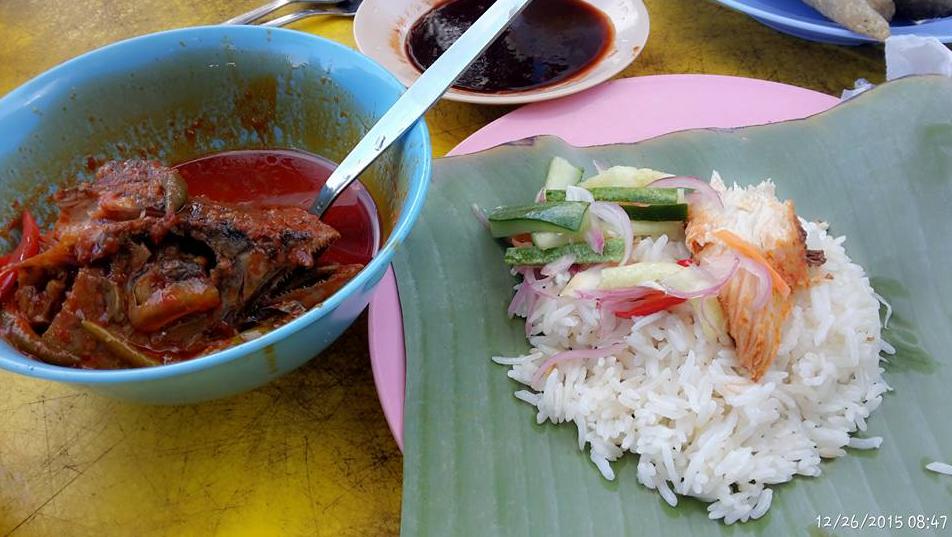 nasi dagang atas tol, 5 menu makanan malaysia, nasi dagang sedap kuala terengganu