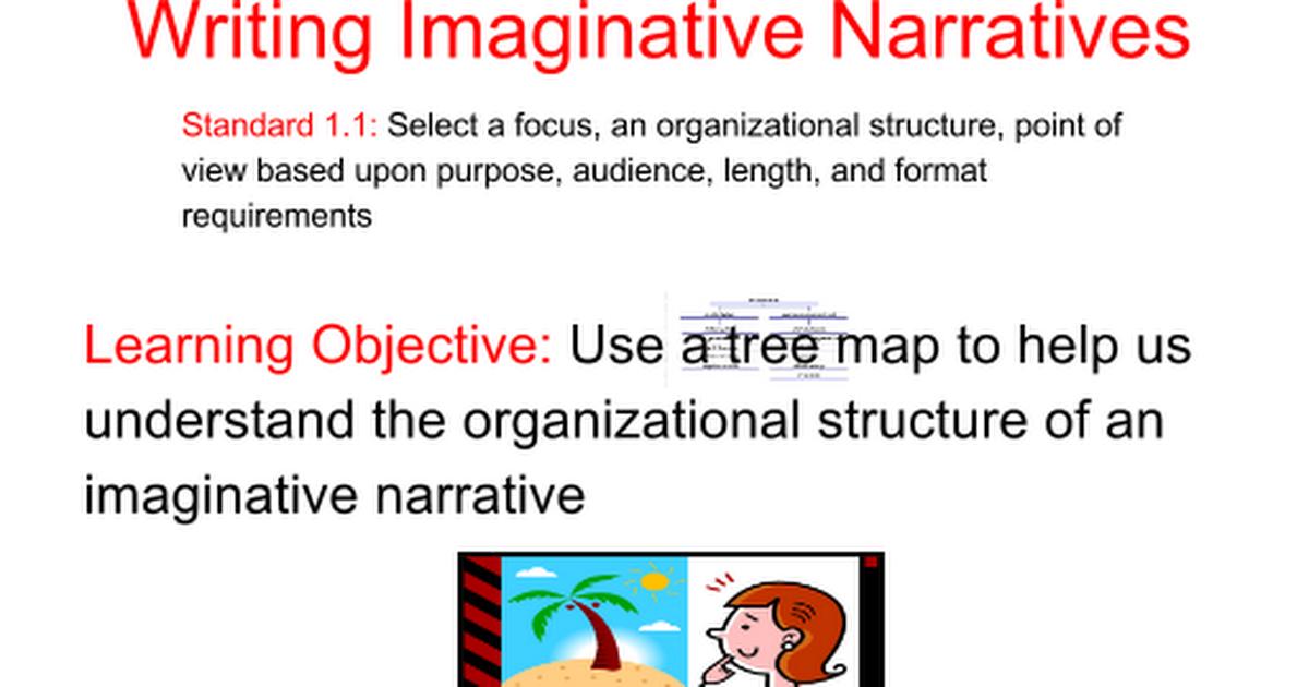 Imaginative Narrative edi writing chose your topic ...