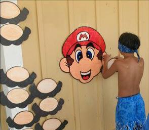 Pin the mustache on Mario 01