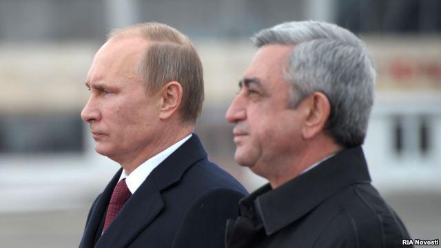 Владимир Путин и Серж Саргсян.Гюмри, 02.12.2013