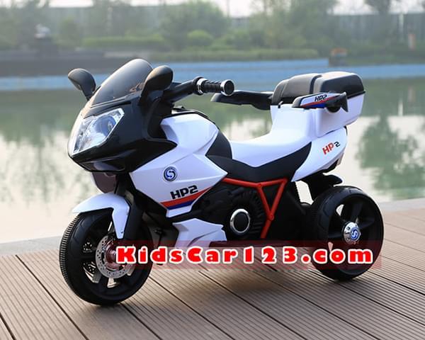 Xe mô tô điện cho bé - HP2 màu trắng