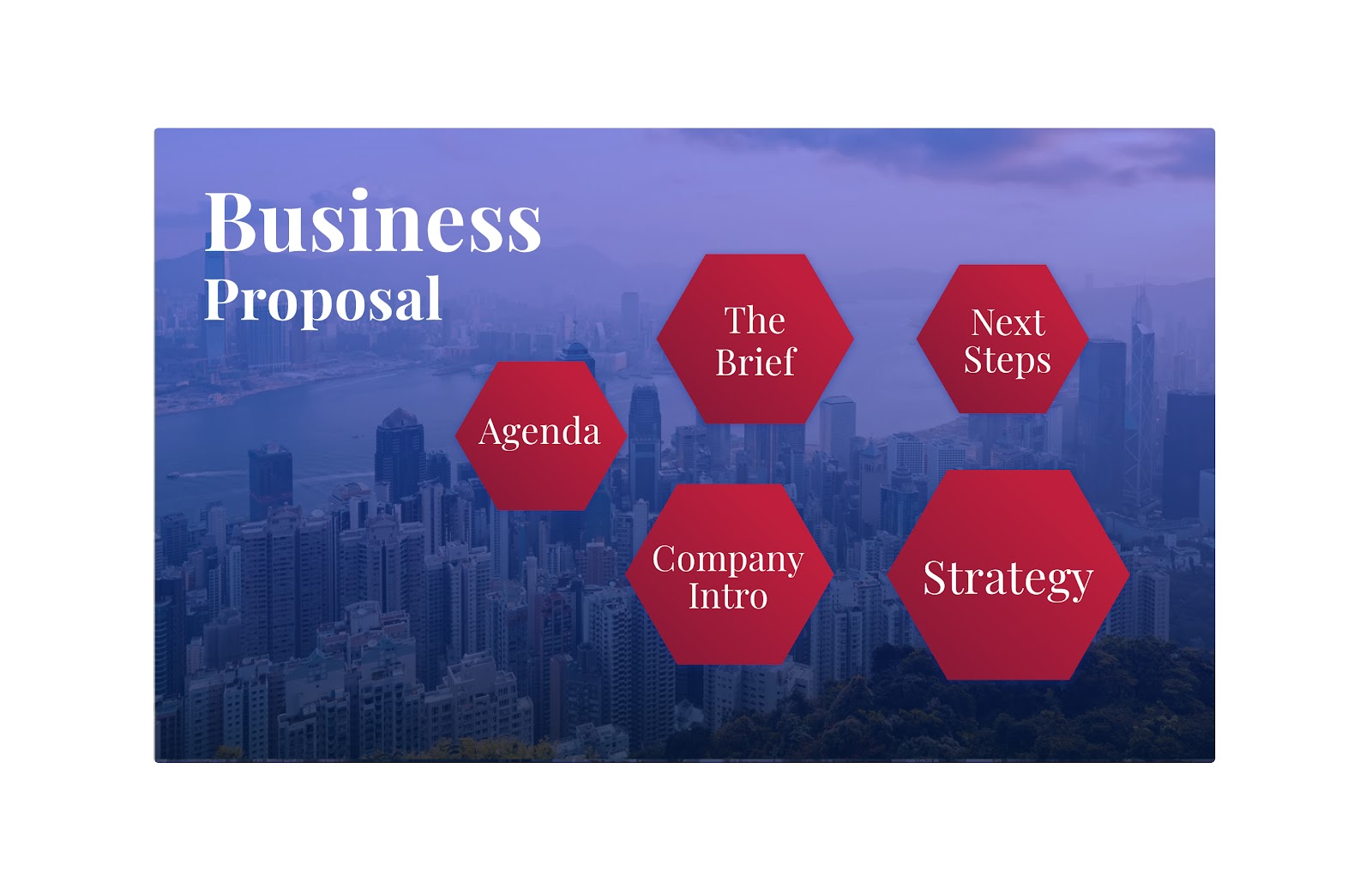 Check out this example of a business proposal presentation.